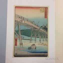 Utagawa Hiroshige (1797-1858), Okazaki