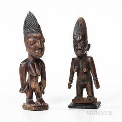 Two Female Yoruba Ibeji Figures