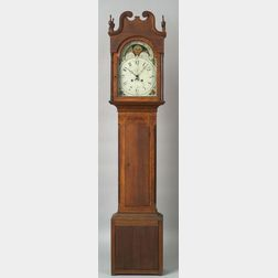 Federal Cherry Inlaid Tall Case Clock
