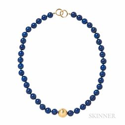 18kt Gold and Lapis Necklace, Paloma Picasso, Tiffany & Co.