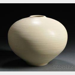 Large Otto Heino Pale Yellow Vase