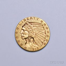 1915 Indian Head Five Dollar Gold Coin