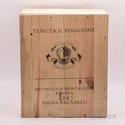 Poggione Brunello di Montalcino Riserva Vigna Paganelli 2005, 6 bottles (owc)