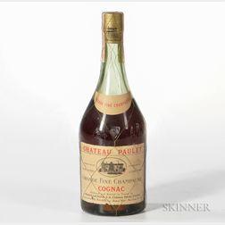 Chateau Paulet Grande Fine Champagne Cognac, 1 4/5 quart bottle