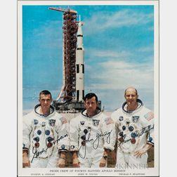 Apollo 10, Prime Crew, Autopen Signed Lithograph.