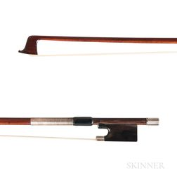 English Silver-mounted Violin Bow, William Watson for W.E. Hill & Sons