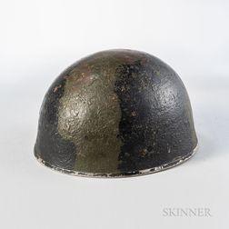 British Mk III Camouflage-painted Helmet
