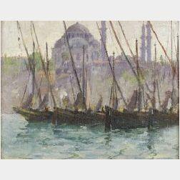 Caleb Arnold Slade (American, 1882-1861)  Hagia Sophia.