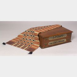 J. & P. Coats Walnut Two-Drawer Retailers Spool Cabinet and a Berea College Fireside Industries Woven Three-Color Runner.