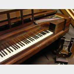 A.H. Gale & Co. Empire Rosewood Veneer Cased Square Piano
