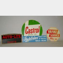 Four Auto Signs