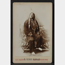 "David F. Barry Cabinet Card of ""Chief Gall,"""