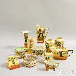 Twelve Pieces of Royal Doulton Ceramic Mostly Dickens Ware