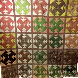 "Pieced Cotton ""Capital T"" Quilt.     Estimate $20-200"