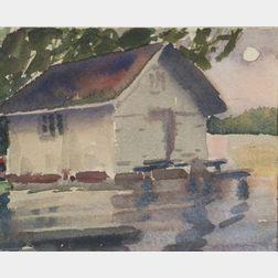 Fairfield Porter (American, 1907-1975)    Boat House