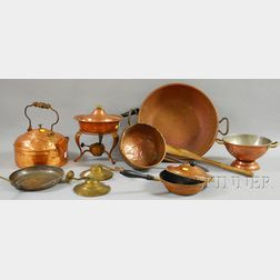 Group of Copper Kitchen and Cookware