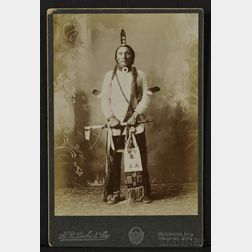 """H.R. Locke and Co. Cabinet Card of """"Chief Brave Heart-Sioux,"""""""