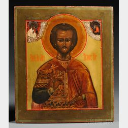 Russian Icon of St. Theodore the Recruit