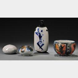Four Vivika & Otto Heino Pottery Pieces