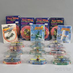 Nineteen Fast Wing Die-cast Metal Aircraft, Four Matchbox Skybusters, and Eleven   Edison Airline H.F. Italy