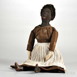 Primitive Black Girl Cloth Doll