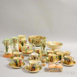 Twenty-six Pieces of Royal Doulton Ceramic Dickens Ware.     Estimate $200-400