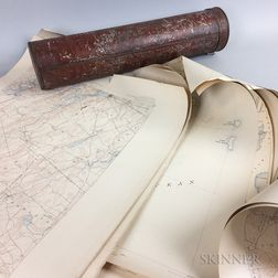 Fifteen U.S. Geological Survey Topographic Maps of Maine