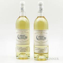 Pavillon Blanc 1993, 2 bottles