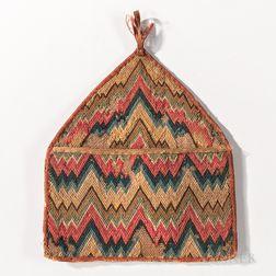 Flame-stitch Wall Pocket