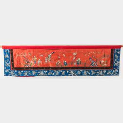 Embroidered Horizontal Hanging Banner