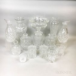 Thirteen Pieces of Colorless Glass Tableware