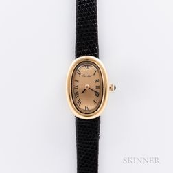 Cartier 18kt Gold Baignoire Wristwatch