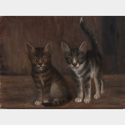 American School, 19th Century      Two Kittens