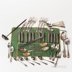 Group of Georgian Silver Spoons