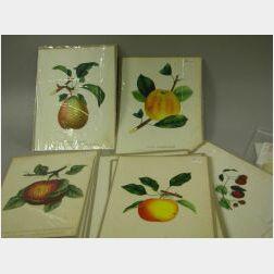 Group of Unframed Decorative Prints and a Fruit Basket Theorem