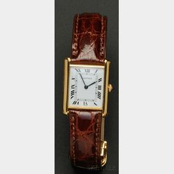 "18kt Gold ""Tank"" Wristwatch, Cartier, Paris"