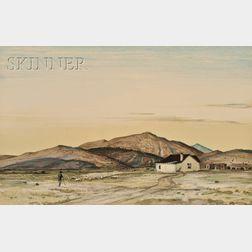 Peter Hurd (American, 1904-1984)      The Shepherd's Home