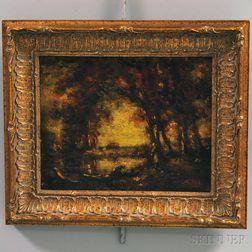 Henry Hammond Ahl (American, 1869-1953)      Autumn Pond.