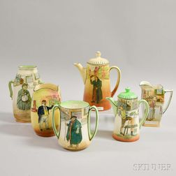 Six Pieces of Royal Doulton Dickens Ware