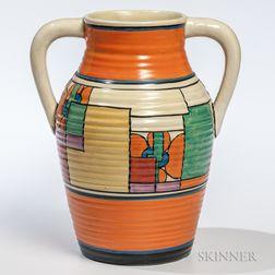 Clarice Cliff Two-handled Bizarre Vase