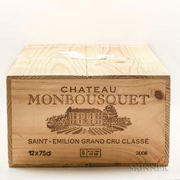 Chateau Monbousquet 2008, 12 bottles (owc)