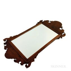Queen Anne Walnut Scroll-frame Mirror