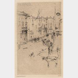 James Abbott McNeill Whistler (American, 1834-1903)      Alderney Street