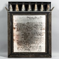 Cameron Shaw (American, b. 1956)      Untitled Box with Washington's Letter and Bottles.