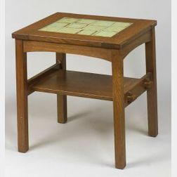 L. & J. G. Stickley Re-Issue Oak Tile-Top Table