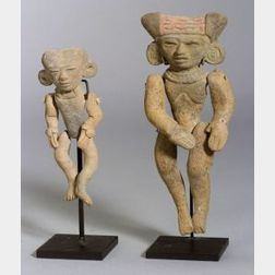 Two Pre-Columbian Articulated Pottery Figures