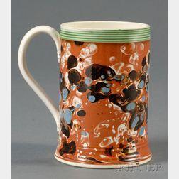 Mochaware Mug with Slip-marbled Decoration