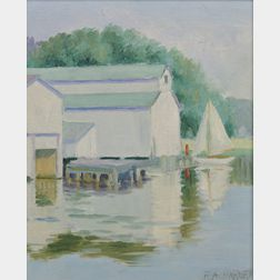 Attributed to Frank A. Barney (American, 1862-1954)      Boathouses