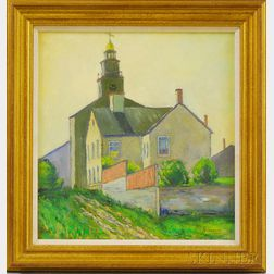 George Lear (American, 1879-1956)      The Congregational Church on Nantucket