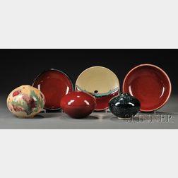 Six Otto Heino Porcelain Pieces